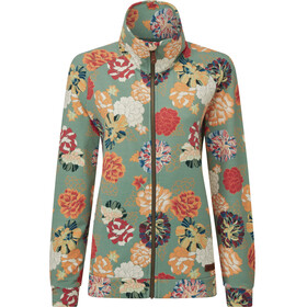 Sherpa Zehma Zip Pullover Women, mechi green print